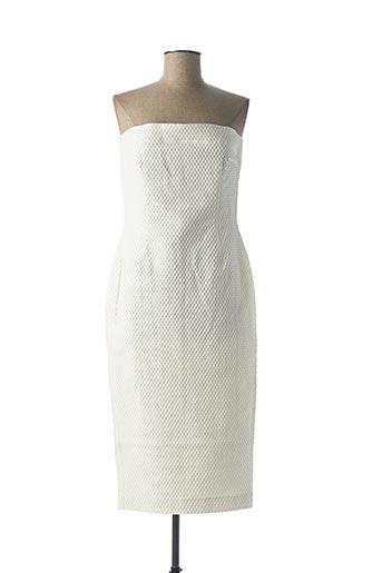 Robe mi-longue beige ETXART&PANNO pour femme