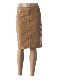 Jupe mi-longue beige ANANKE pour femme