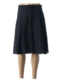 Jupe mi-longue noir TRICOT CHIC pour femme