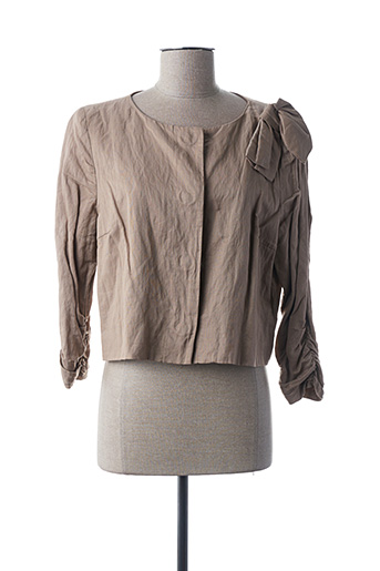 Veste casual beige ALBA CONDE pour femme