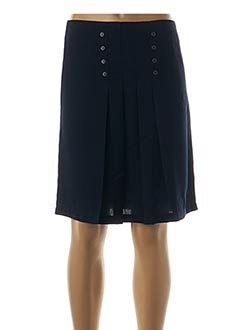 Jupe mi-longue bleu HALOGENE pour femme