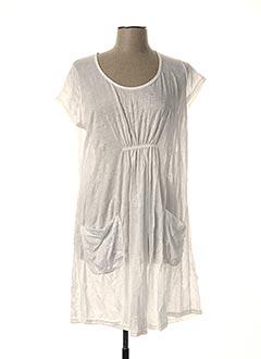 Tunique manches courtes blanc EVA TRALALA pour femme