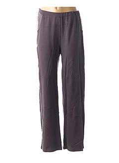 Pantalon casual violet EVA TRALALA pour femme