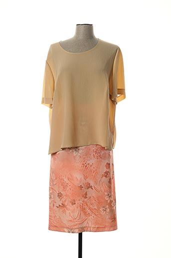 Top/jupe beige FRANCE RIVOIRE pour femme