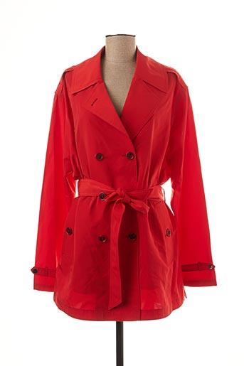 Imperméable/Trench rouge BRUNO SAINT HILAIRE pour femme