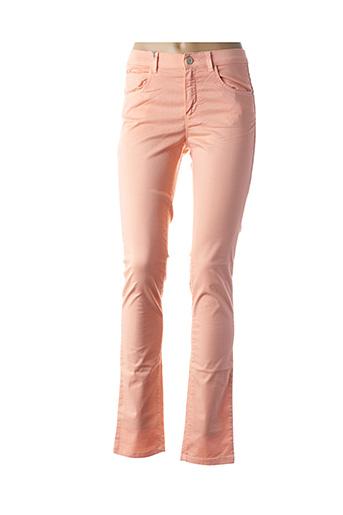 Pantalon casual orange BRUNO SAINT HILAIRE pour femme
