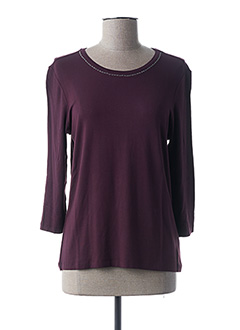 T-shirt manches longues violet LEBEK pour femme
