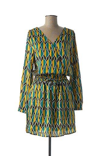 Robe courte jaune CERISE BLUE pour femme