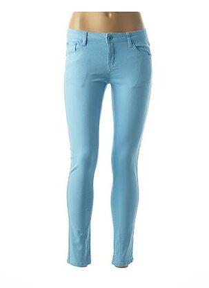 Pantalon 7/8 bleu EVIDENI pour femme