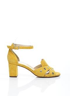 Sandales/Nu pieds jaune FRANCE MODE pour femme