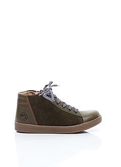 Bottines/Boots vert ASTER pour garçon