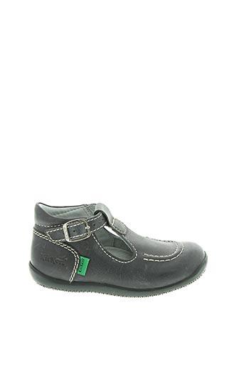 Sandales/Nu pieds gris KICKERS pour garçon