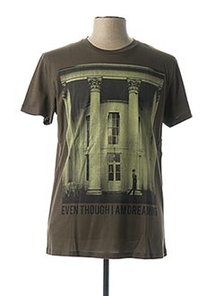 T-shirt manches courtes vert HOMINI EMERITO pour homme