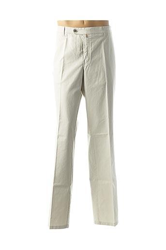 Pantalon chic beige LUIGI MORINI pour homme