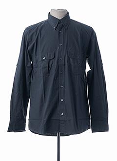 Chemise manches longues noir CAMEL pour homme