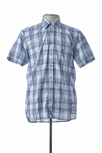 Chemise manches courtes bleu CAMEL ACTIVE pour homme