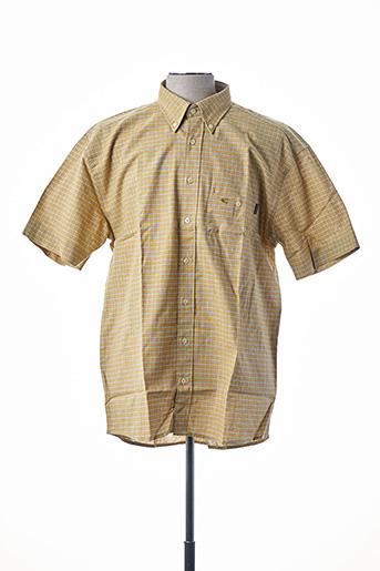 Chemise manches courtes jaune CAMEL ACTIVE pour homme