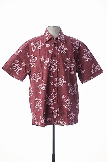Chemise manches courtes rose CAMEL ACTIVE pour homme