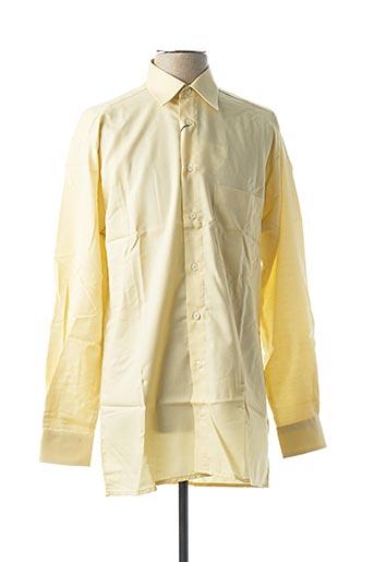 Chemise manches longues jaune JUPITER pour homme