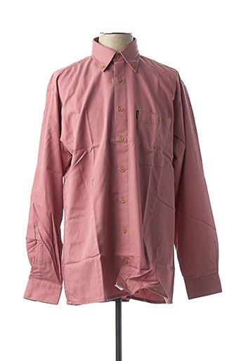 Chemise manches longues rouge JUPITER pour homme