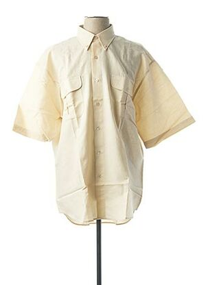 Chemise manches courtes beige JUPITER pour homme