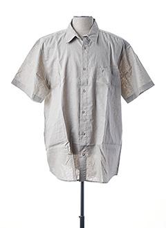 Chemise manches courtes beige DUKE pour homme
