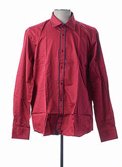 Chemise manches longues rouge ROMANO ROSSI pour homme