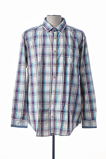 Chemise manches longues violet D555 pour homme