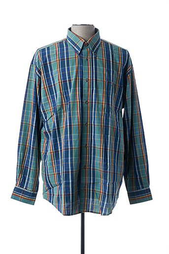 Chemise manches longues bleu F.T.X. pour homme