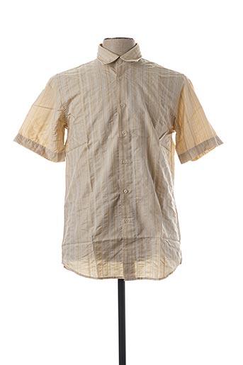 Chemise manches courtes beige DANIEL HECHTER pour homme