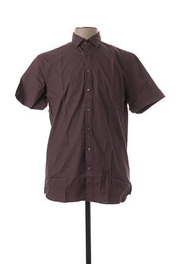 Chemise manches courtes violet DANIEL HECHTER pour homme