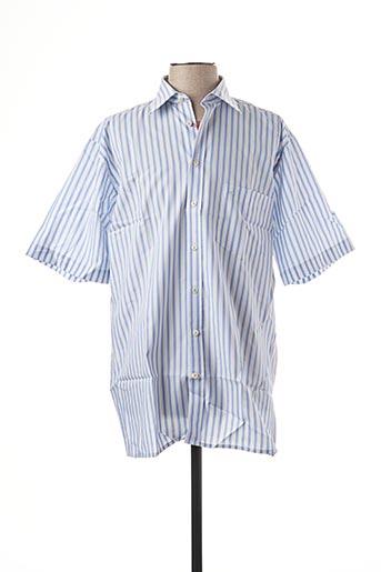 Chemise manches courtes bleu SEIDEN STICKER pour homme