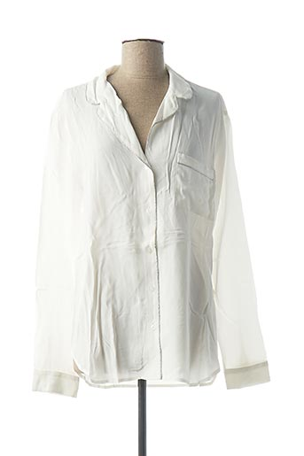 Chemisier manches longues blanc DENIM &DRESS pour femme