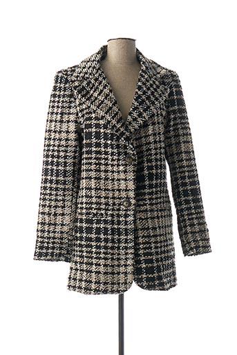 Manteau long noir DENIM &DRESS pour femme