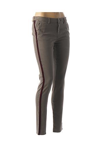 Pantalon casual marron DENIM &DRESS pour femme