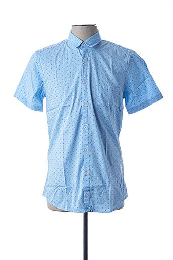 Chemise manches courtes bleu HUGO BOSS pour homme