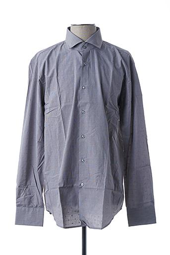 Chemise manches longues gris HUGO BOSS pour homme