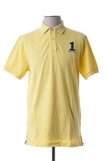 Polo manches courtes jaune HACKETT pour homme