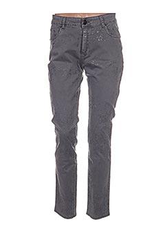 Pantalon casual gris LESLIE pour femme