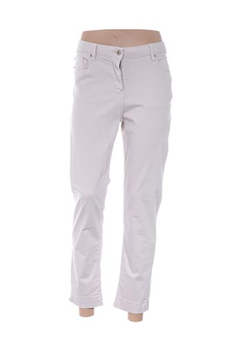 Pantalon 7/8 beige CARLA KOPS pour femme