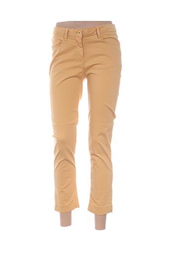 Pantalon 7/8 jaune CARLA KOPS pour femme