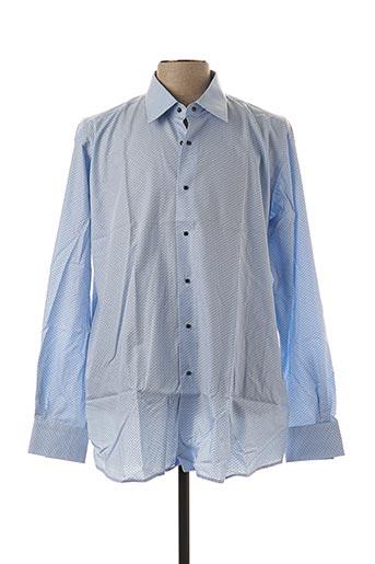 Chemise manches longues bleu KARL LAGERFELD pour homme
