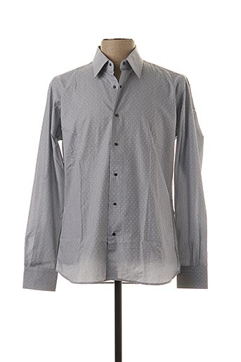Chemise manches longues gris KARL LAGERFELD pour homme
