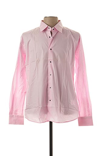 Chemise manches longues rose KARL LAGERFELD pour homme