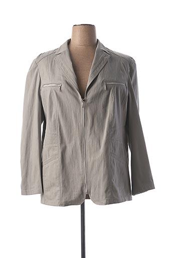Veste chic / Blazer gris LEBEK pour femme