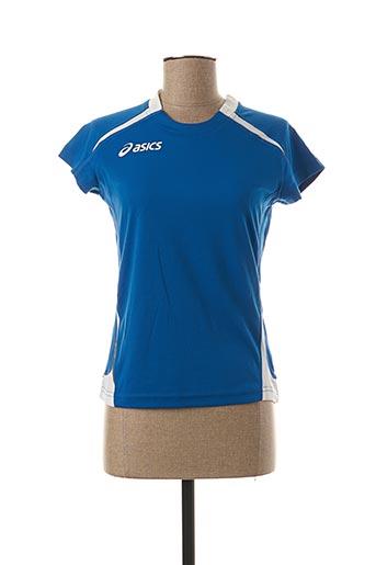 T-shirt manches courtes bleu ASICS pour femme