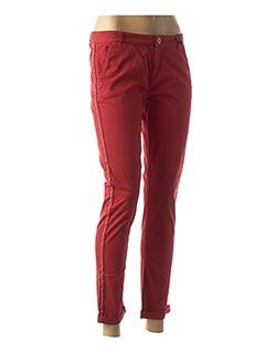 Pantalon casual rouge DDP pour femme