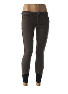 Pantalon casual gris EQUI-THEME pour femme