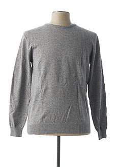 Pull col cheminée gris YVES ENZO pour homme