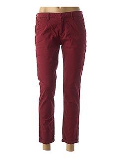 Pantalon casual rouge REIKO pour femme